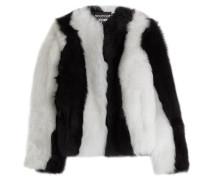 Two-Tone-Jacke aus Schafsfell