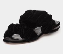 Sandale mit Samt-Haptik