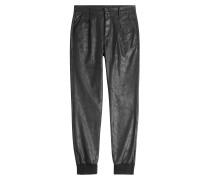 Harem-Pants in Leder-Optik
