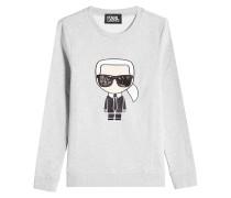 Bestickcktes Sweatshirt Ikonik Karl aus Baumwolle