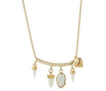 Halskette aus goldfarbenem Metall