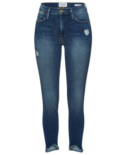 Skinny Jeans Le High Skinny Triangle Raw Hem