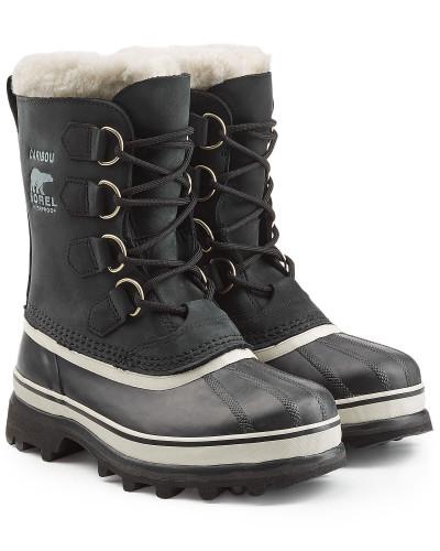 sorel damen gef tterte winter boots caribou aus leder und. Black Bedroom Furniture Sets. Home Design Ideas