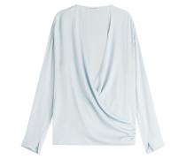Drape-Bluse aus Seide