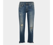 Cropped Jeans im Destroyed-Look