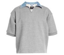 Sweatshirt mit Kragen aus Denim