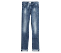 Straight-Leg-Jeans aus Baumwoll-Stretch