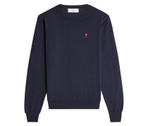 Bestickter Pullover aus Wolle
