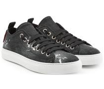 Sneakers aus Denim im Used Look