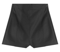 High-Waist-Shorts aus Baumwoll-Stretch