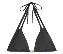 Triangel-Bikini-Top mit Metallic-Details