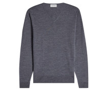 V-Pullover aus Wolle
