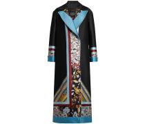 Bestickter Mantel mit Wolle