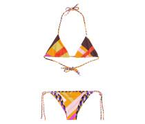 Neckholder-Bikini-Top mit Print mit Print