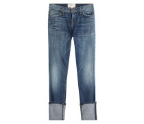 Cropped-Jeans mit Umschlag