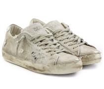 Sneakers Super Star aus Baumwolle im Distressed-Look