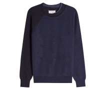 Pullover im Color Block Look aus Wollmix