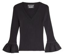 V-Pullover aus Schurwolle