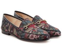 Bedruckte Loafers mit Leder