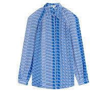 Print-Bluse aus Seide mit Cut-Out-Schultern