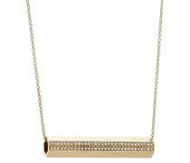 Halskette Pipe aus 18kt Gelbgold mit weißen Diamanten