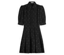 Shirt-Dress aus Wolle mit Polka-Dots