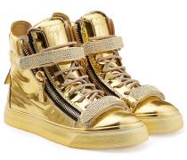 High-Top-Sneakers aus Lackleder