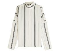Bedruckte Bluse mit Baumwolle und Stehkragen