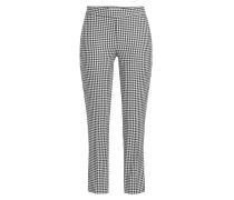 Straight Leg Pants mit Wolle und Hahnentritt-Muster