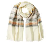 Gestreifter Schal aus Baumwolle und Leinen