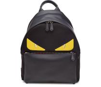 Rucksack aus Leder mit Patches
