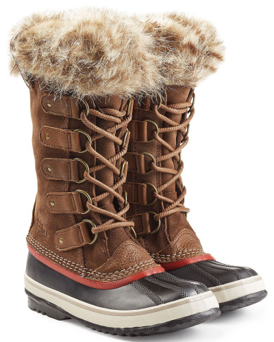 sorel damen winter boots joan of arctic mit besatz in fell optik reduziert. Black Bedroom Furniture Sets. Home Design Ideas