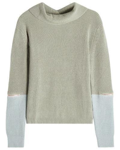 Pullover aus extrafeiner Wolle mit Zipper-Details