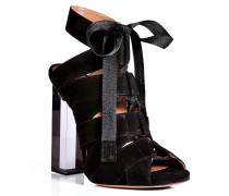 Open-Toe-Heels aus Leder