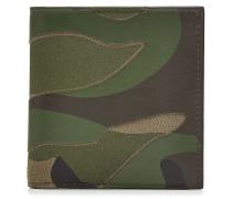 Bedrucktes Camouflage-Portemonnaie mit Leder