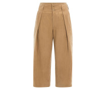 Cropped Wide-Leg-Pants aus Baumwolle