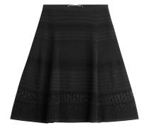 Flared-Skirt aus Jersey mit Spitze