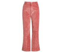 Cropped Flared Pants aus Samt