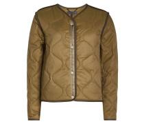 Gesteppte Jacke aus Cupro und Baumwolle