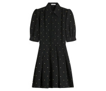 Shirt-Dress aus Wolle mit Polka-Dots