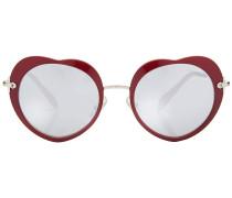 Sonnenbrille mit herzförmigem Rahmen