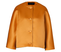 Satin/Wool Felt Jacket in Golden Brown/Black