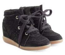 Wedge-Sneakers Bobby aus Veloursleder