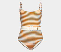 Swimsuit The Nina mit Gürtel in Sky Riad