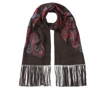 Bestickter Schal aus Kaschmir und Seide