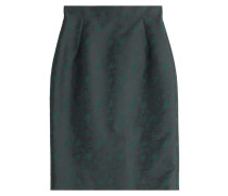 Bestickter Pencil-Skirt mit Seide