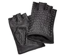 Fingerlose Leder-Handschuhe mit Nieten