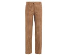 Wide-Leg-Pants aus Schurwolle mit Print