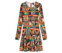 Flared-Dress mit Print