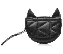 Gestepptes Katzen-Portemonnaie aus Leder
